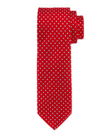 Venn Circle Silk Tie, Red/Blue