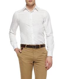 Basic Woven Sport Shirt, White