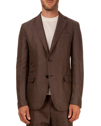 Deconstructed Soft Jacket, Brown