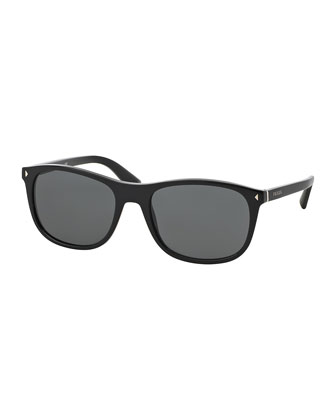 Acetate Sunglasses, Black