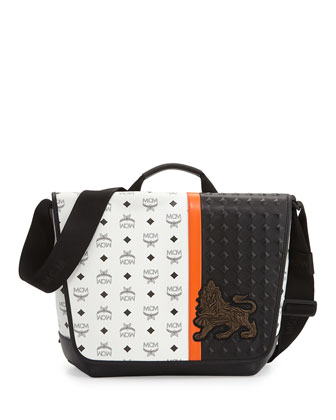 Munich Lion Messenger Bag, White