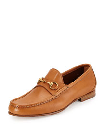 Leather Horsebit Loafer, Tan