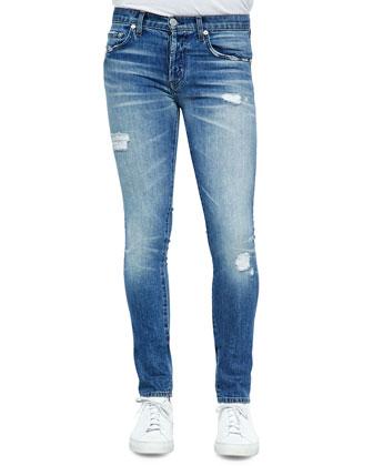 Mick Destructed Stretch Denim Jeans