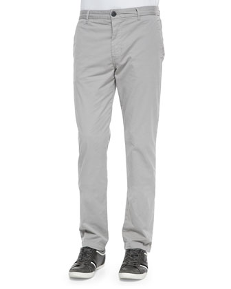 Slim-Fit Knit Twill Trousers