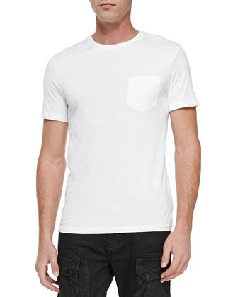 Knit Crewneck Tee Shirt, White