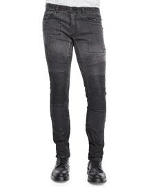 Standen Slim-Fit Degrade Jeans, Black