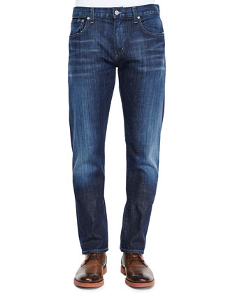 Core Slim Straight Eastwood Jeans, Dark Indigo