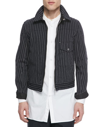 Jeffery Striped Jacket, Black
