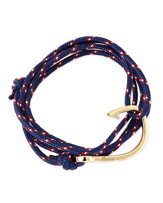Hook Rope Bracelet, Navy