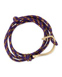 Hook Rope Bracelet, Purple