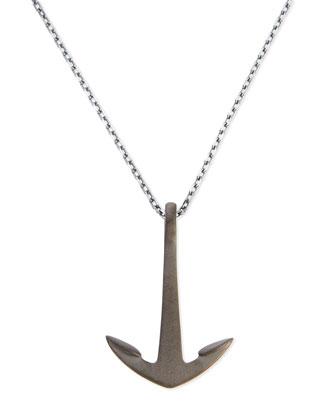 Anchor Pendant Necklace, Noir