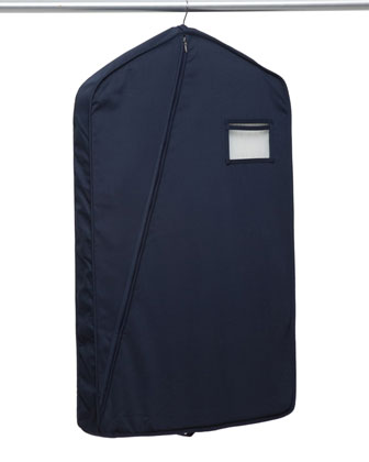 Long Luxury Garment Bag, Navy