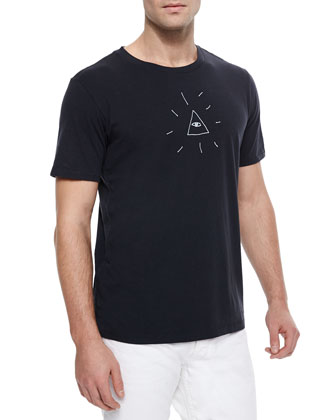Eye of Providence Graphic Tee, Black