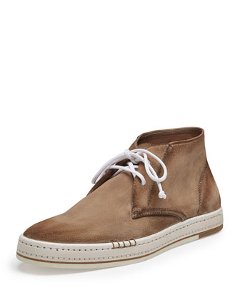 Cortina Suede Ankle Boot, Taupe