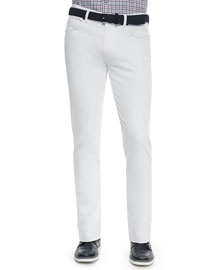 Slim Fit Five-Pocket Denim Jeans, White