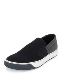 Leather Skate Sneaker, Blue