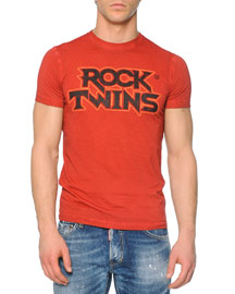 Red Rock Twins-Printed Tee, Red