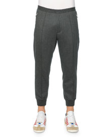 Drawstring Jogger Pants, Gray