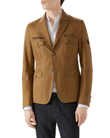 Tan Washed Army Jacket