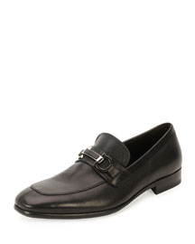 Monaco Calf Leather Loafer, Black