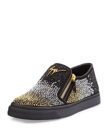 Men's Beaded Slip-On Sneaker, Metallic