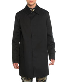 Mac Leather Trench Coat, Black