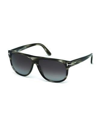 Kristen Polarized Square Sunglasses, Gray