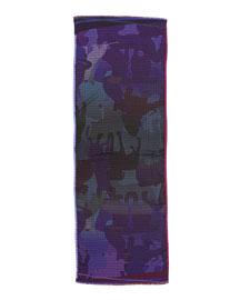 Dog Camo Check Men's Scarf, Purple
