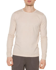 Organic Long-Sleeve Shirt, Sand