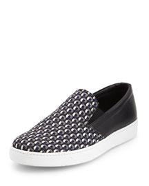 Printed Slip-On Sneaker, Blue/Gray