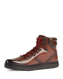 Leather Trekking Boot, Brown