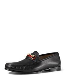 Leather Horsebit Loafer, Black