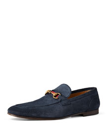 Suede Horsebit Loafer, Blue