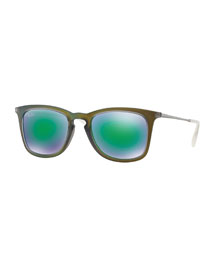 Wayfarer Plastic Sunglasses, Olive