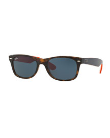 New Wayfarer Sunglasses, Gunmetal Havana