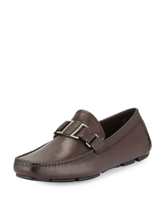Antico Leather Driver, Chocolate