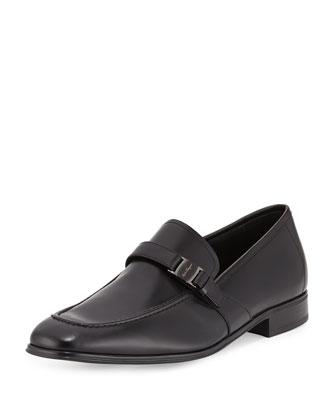 Calf Leather Vara Loafer, Black