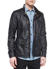 Tourmaster Coated Zip-Up Jacket, Navy