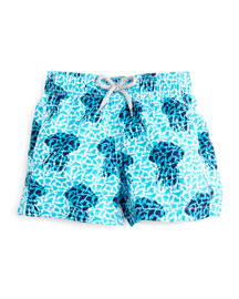 Jim Jellyfish-Print Swim Trunks, Blue, Boys' 2-8