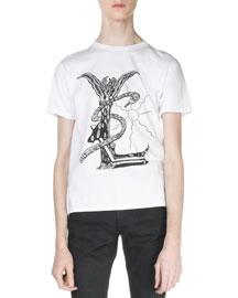 Malibu Logo Graphic T-Shirt, White