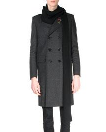 Long Wool Scarf, Black