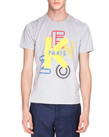 Logo Short-Sleeve Tee, Gray