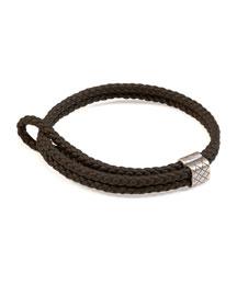 Men's Woven Leather Bracelet