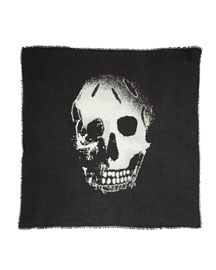 Burnout Skull-Printed Scarf