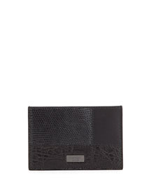 Patchwork Flat Card Case, Black