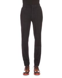 Wool-Blend Jogger Pants, Black