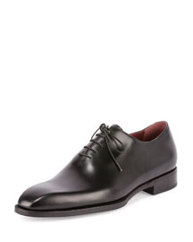 Alessandro Lace-Up Leather Shoe, Black