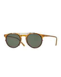 Sir O'Malley 45 Flip-Clip Sunglasses, Gold