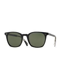 L.A. Coen Acetate Sunglasses, Blac