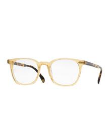L.A. Coen 49 Square Fashion Glasses, Light Brown